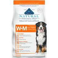 Blue Buffalo Natural Veterinary Diet W+M Weight Management + Mobility Support Grain-Free Dry Dog Food, 6-lb bag