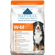 Blue Buffalo Natural Veterinary Diet W+M Weight Management + Mobility Support Grain-Free Dry Dog Food, 22-lb bag