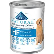 Blue Buffalo Natural Veterinary Diet HF Hydrolyzed for Food Intolerance Grain-Free Canned Dog Food, 12.5-oz, case of 12