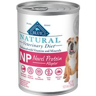 Blue Buffalo Natural Veterinary Diet NP Novel Protein Alligator Grain-Free Canned Dog Food, 12.5-oz, case of 12