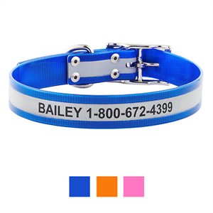GoTags Personalized Reflective Waterproof Dog Collar