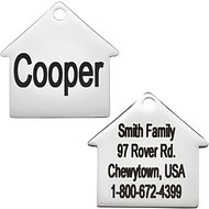 Frisco Personalized Stainless Steel ID Tag, Dog House