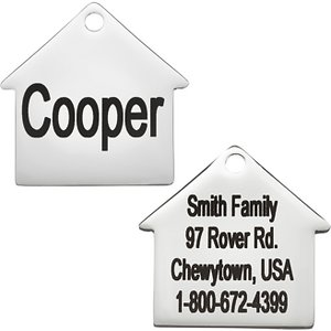 GoTags Personalized Stainless Steel Dog House ID Tag