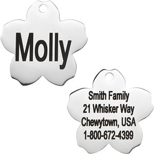 GoTags Personalized Stainless Steel Flower ID Tag