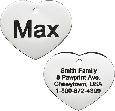 GoTags Personalized ID Tag, Heart
