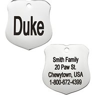GoTags Personalized Stainless Steel ID Tag, Badge, Regular