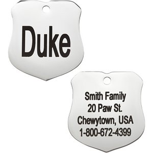 GoTags Personalized Stainless Steel Badge ID Tag