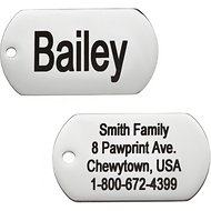 GoTags Personalized Stainless Steel ID Tag, Rectangle, Regular