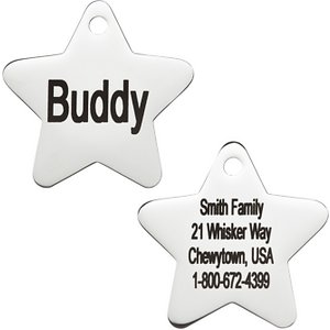 GoTags Personalized Stainless Steel Star ID Tag