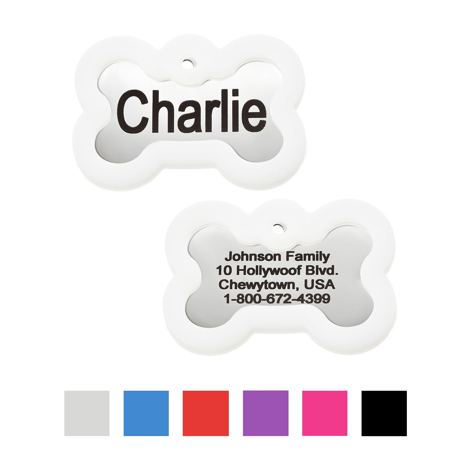 Gotags Personalized Stainless Steel Id Tag With Silencer Bone