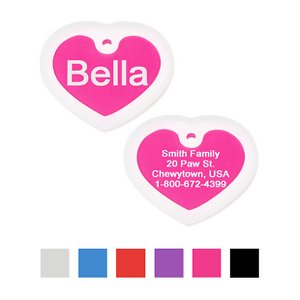 GoTags Personalized Heart ID Tag with Silencer