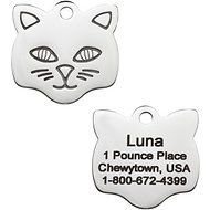 GoTags Personalized Stainless Steel ID Tag, Cat