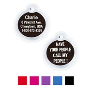 "GoTags Personalized Anodized Aluminum ID Tag with Silencer, ""Have Your People Call My People"", Black"