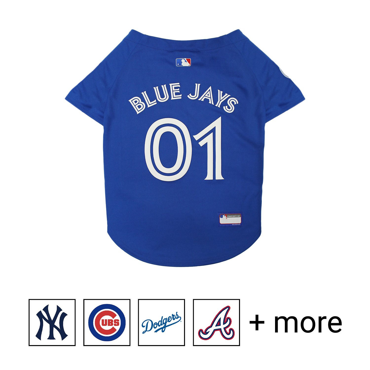 best sneakers 004d6 f0bba Pets First Toronto Blue Jays Dog & Cat Jersey, Large