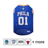 Pets First NBA Dog & Cat Mesh Jersey, Philadelphia 76ers Large
