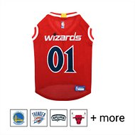 Pets First NBA Dog & Cat Mesh Jersey, Washington Wizards, X-Large