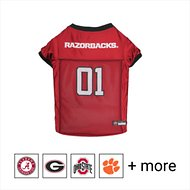 Pets First NCAA Dog & Cat Mesh Jersey, Arkansas Razorbacks, Large