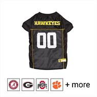Pets First NCAA Dog & Cat Mesh Jersey, Iowa Hawkeyes, Large