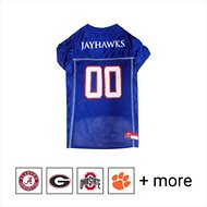Pets First NCAA Dog & Cat Mesh Jersey, Kansas Jayhawks, Medium