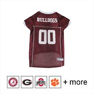 Pets First NCAA Dog & Cat Mesh Jersey, Mississippi State, Large