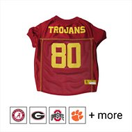 Pets First NCAA Dog & Cat Mesh Jersey, USC Trojans, Medium
