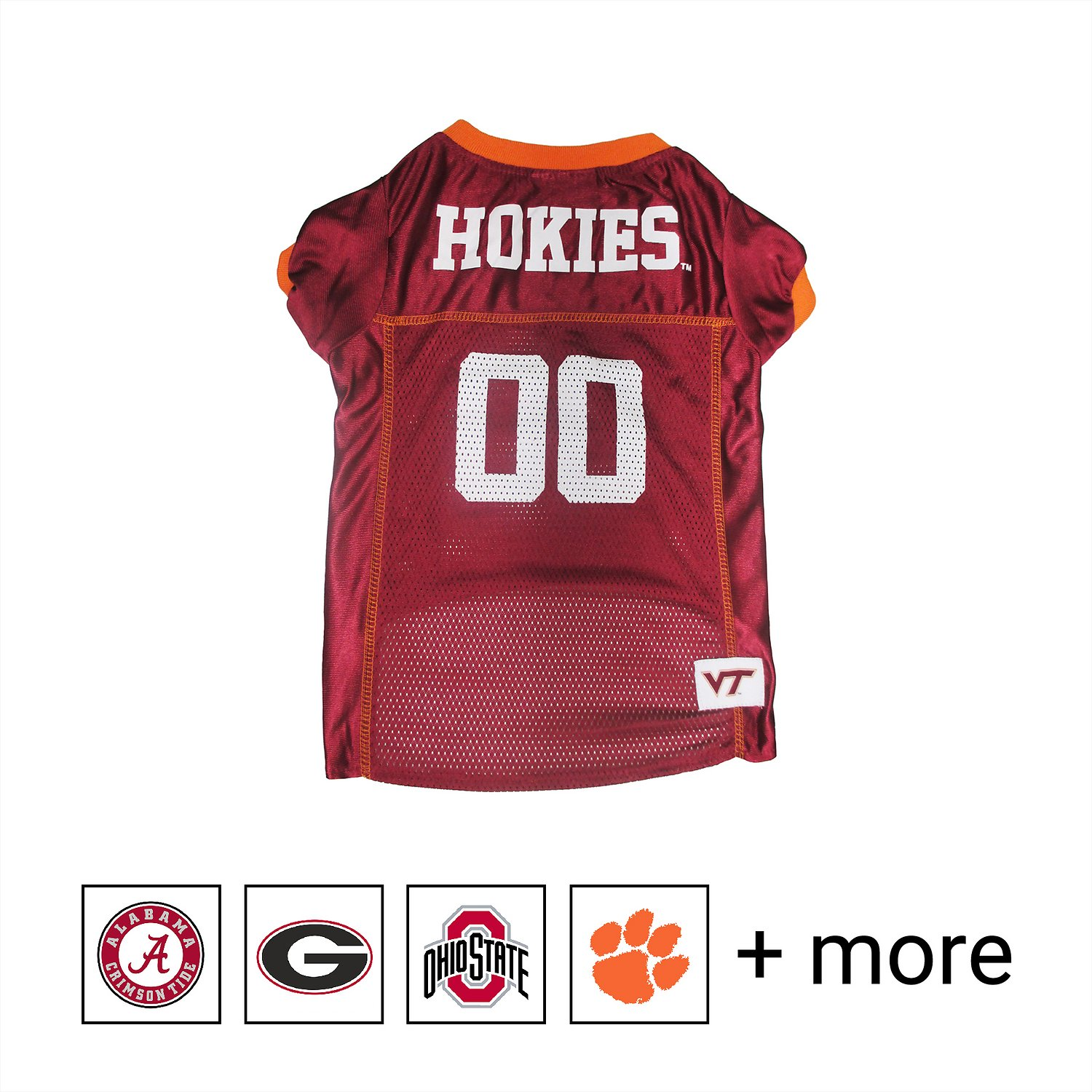 best sneakers 1d6f8 ab830 Pets First NCAA Dog & Cat Mesh Jersey, Virginia Tech, X-Large
