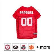 Pets First NCAA Dog & Cat Mesh Jersey, Wisconsin Badgers, Large
