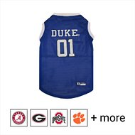 Pets First NCAA Basketball Dog & Cat Mesh Jersey, Duke University, Large