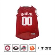 Pets First NCAA Basketball Dog & Cat Mesh Jersey, Indiana Hoosiers, Small