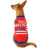 Frisco Red, White and Cute Dog & Cat T-Shirt, Small