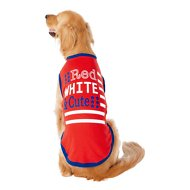 Frisco Red, White and Cute Dog & Cat T-Shirt, XX-Large