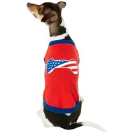 Frisco Bone Shaped American Flag Dog & Cat T-Shirt, Small