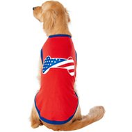 Frisco Bone Shaped American Flag Dog & Cat T-Shirt, XX-Large