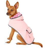 Frisco Reversible Packable Dog Raincoat, Pink, Small
