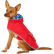 Frisco Reversible Packable Dog Raincoat, Red, Small