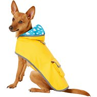 Frisco Reversible Packable Dog Raincoat, Yellow, Small