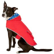 Frisco Reversible Packable Dog Raincoat, Red, Large