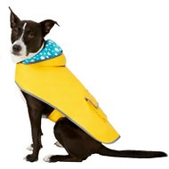 Frisco Reversible Packable Dog Raincoat, Yellow, Large