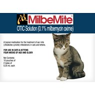 Milbemite Otic Solution for Cats, 2 tube