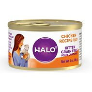 Halo Chicken Recipe Grain-Free Kitten Canned Food, 3-oz,case of 12
