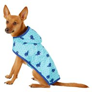 Frisco Whales Dog Raincoat, Small