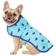 Frisco Whales Dog Raincoat, Medium