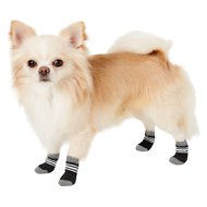 Frisco Traction Control Dog Socks, 4 count, Black & Gray, Size 1