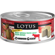 Lotus Grain-Free Green Tripe Loaf Canned Dog Food, 5.3-oz, case of 24