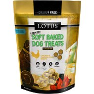Lotus Soft-Baked Chicken and Chicken Liver Recipe Grain-Free Dog Treats, 10-oz bag