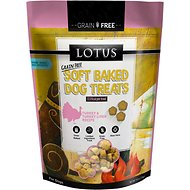 Lotus Soft-Baked Turkey and Turkey Liver Recipe Grain-Free Dog Treats, 10-oz bag