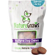 Nature Gnaws Salmon & Sweet Potato Chips Grain-Free Dog Treats, 12-oz bag