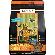 Lotus Oven-Baked Duck Recipe Grain-Free Dry Cat Food, 2.2-lb bag