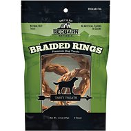 Redbarn Braided Rings Dog Treats, 3 count