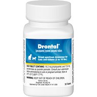 Drontal Tablets for Cats, 2-16 lbs, 50 tablets